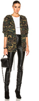Saint Laurent Army Camouflage Jacket with Stars