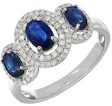 Lord & Taylor 14K White Gold Sapphire and Diamond Ring, 0.264 TCW