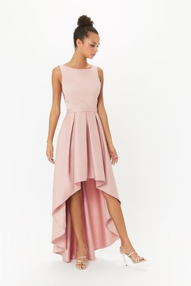 Coast Satin Dip Hem Midi Dress