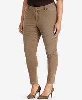 Lauren Ralph Lauren Plus Size Stretch Skinny Moto Jeans