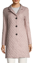 Cinzia Rocca Solid Diamond Quilted Coat