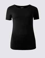 M&S Collection Pure Cotton Round Neck Short Sleeve T-Shirt