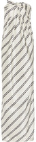 Halston Strapless Striped Satin-twill Gown - White