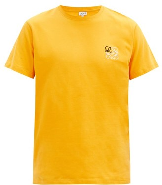 Loewe Anagram-embroidered Cotton T-shirt - Orange