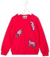 MSGM animal appliqué sweatshirt - kids - Cotton - 8 yrs