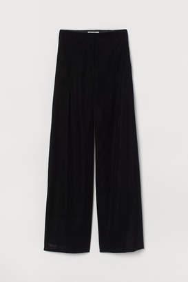 H&M Wide-leg Velvet Pants