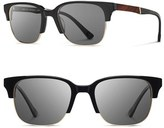 Shwood Men's Newport 52Mm Polarized Sunglasses - Black/ Mahogany/ Grey