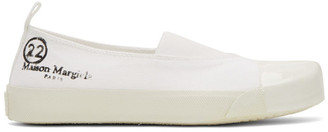 Maison Margiela SSENSE Exclusive White Low-Top Sneakers