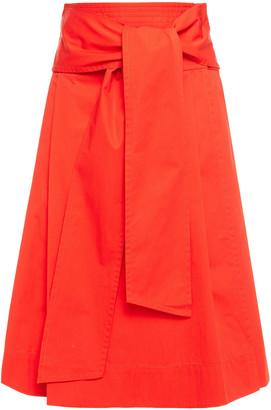 Tory Burch Cotton-poplin Wrap Skirt