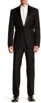 Kenneth Cole New York Solid Two Button Notch Lapel Wool Suit
