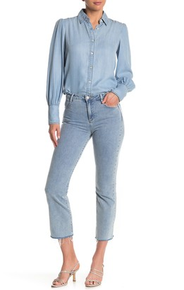Tractr High Rise Cropped Flare Jeans