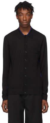 Joseph Black Light Merino Knit Shirt