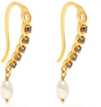Jaipur Atelier | Los Angeles Laura Black Diamond Pearl Earrings