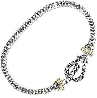 Candela Andrea Toledo 18K & Silver 0.10 Ct. Tw. Diamond Toggle Bracelet