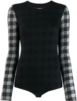 Maison Margiela checked wool bodysuit