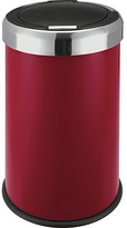 Living HOME 50 Litre Red Stainless Steel Press Top Bin