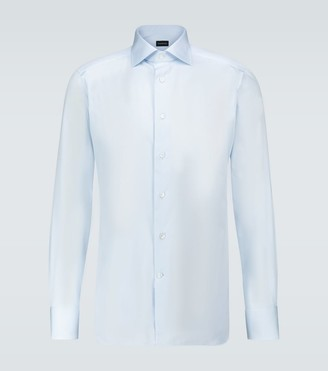 Ermenegildo Zegna Italian-collar long-sleeved shirt