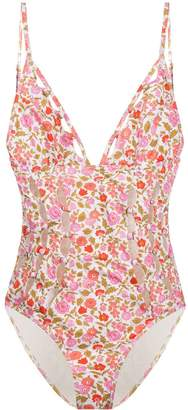 Zimmermann coral blossom swimsuit