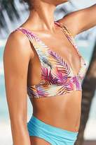 Out From Under Printed Deep Plunge Bikini Top