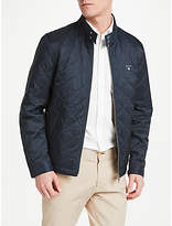 Gant Stand Collar Quilted Windcheater Jacket, Navy