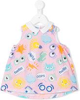 Fendi sleeveless printed dress