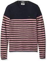 Tommy Hilfiger Men's Basic Crew Neck Sweater Long Sleeve Shirt