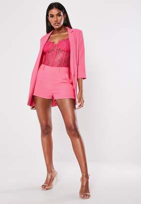 Missguided Petite Pink Co Ord Boyfriend Blazer