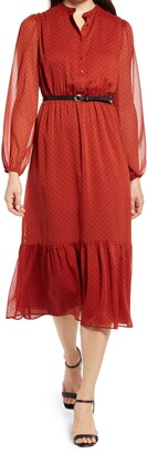 Ever New Francis Tiered Long Sleeve Midi Dress