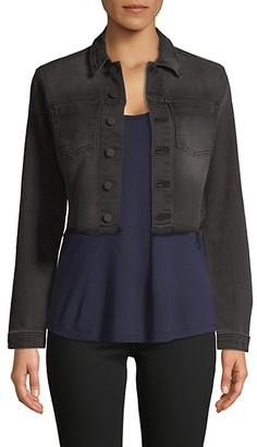 L'Agence Lace-Up Cropped Jacket