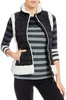 Calvin Klein Quilted Puffer Vest with Faux-Sherpa Fleece Trim