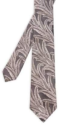 Ted Baker Baysil Large Leaf Jacquard Silk Skinny Tie