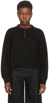 LOULOU STUDIO Black Cashmere Forana Polo