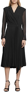 Sandro House Pleated Midi Dress