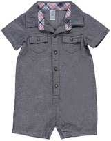 """Carter's Baby Boys' """"Plaid-Trimmed Chambray"""" Romper"""