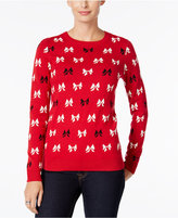 Charter Club Petite Bow-Print Sweater, Only at Macy's