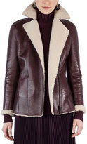 Akris Punto Shearling-Lined Notch-Collar Coat