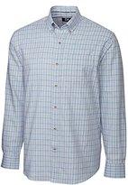 Cutter & Buck Men's Long Sleeve Johnston Plaid Woven Shirt