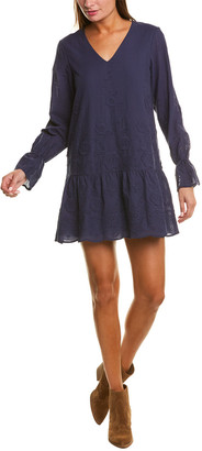 Sail to Sable Embroidered Eyelet Shift Dress