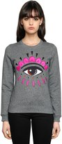 Kenzo Eye Embroidered Cotton Sweatshirt
