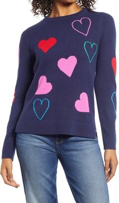 Halogen Heart Cashmere Sweater