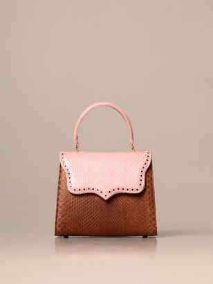 Tari' Rural Design Ab1 Small Tarigrave; Rural Design Bag In Bicolor Python Leather