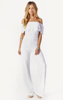 Nightcap Clothing spanish lace off the shoulder jumpsuit