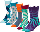 Switch Purple 5 Pairs Men's Crew Socks