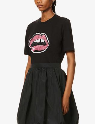 Markus Lupfer Alex sequin-embellished cotton-jersey T-shirt