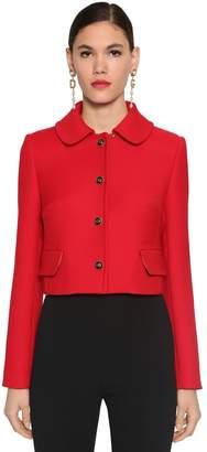 Dolce & Gabbana Wool Double Crepe Short Jacket