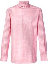 Isaia checked shirt