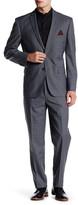 Nicole Miller Grey/Black Plaid Two Button Notch Lapel Suit