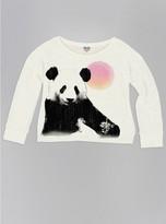 Junk Food Clothing Girls Panda Sunny Day Fleece-ivory-l