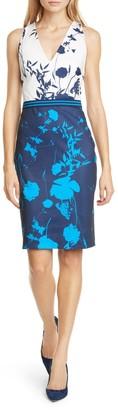 Ted Baker Tilliai Floral Colorblock Bodycon Dress
