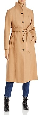 Kate Spade Belted Stand Collar Coat